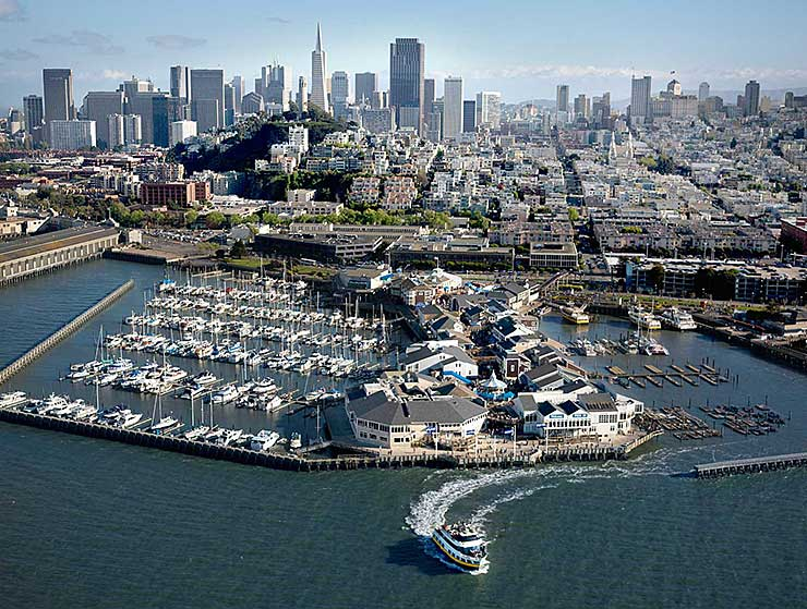 Pier 39 Arial View