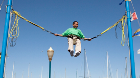 Frequent Fliers at Pier 30 - bungee trampoline