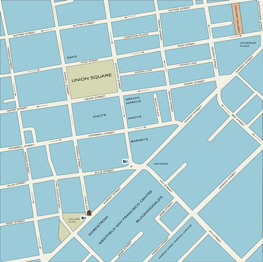 Union Square Shopping District Map